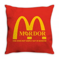 mordor one does not simply eat in mordor Throw Pillow | Artistshot