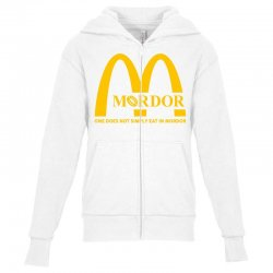 mordor one does not simply eat in mordor Youth Zipper Hoodie | Artistshot