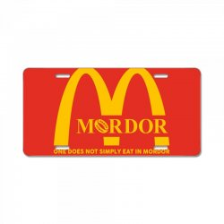 mordor one does not simply eat in mordor License Plate | Artistshot