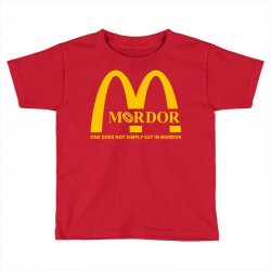 mordor one does not simply eat in mordor Toddler T-shirt | Artistshot