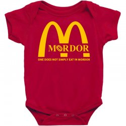 mordor one does not simply eat in mordor Baby Bodysuit | Artistshot