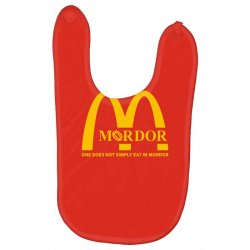 mordor one does not simply eat in mordor Baby Bibs | Artistshot