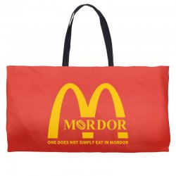 mordor one does not simply eat in mordor Weekender Totes | Artistshot