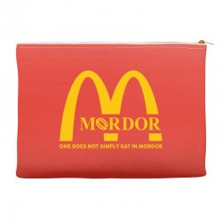 mordor one does not simply eat in mordor Accessory Pouches | Artistshot