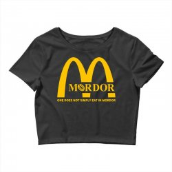 mordor one does not simply eat in mordor Crop Top | Artistshot