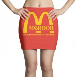 mordor one does not simply eat in mordor Mini Skirts | Artistshot