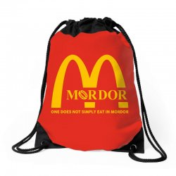 mordor one does not simply eat in mordor Drawstring Bags | Artistshot