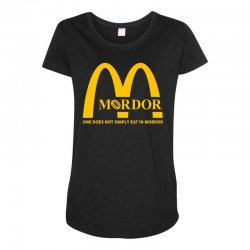 mordor one does not simply eat in mordor Maternity Scoop Neck T-shirt | Artistshot