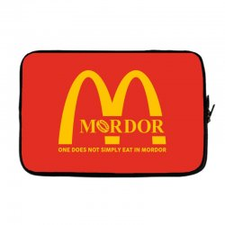 mordor one does not simply eat in mordor Laptop sleeve | Artistshot