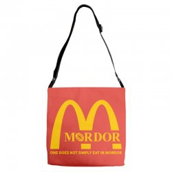 mordor one does not simply eat in mordor Adjustable Strap Totes | Artistshot