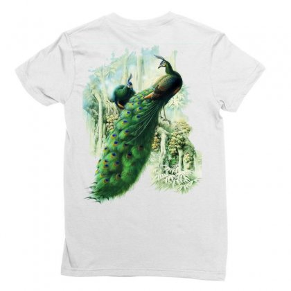 Painting Work Of Art Peafowl Peacock Ladies Fitted T-shirt Designed By Salmanaz