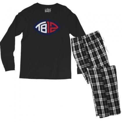 Tb12 Tom Brady Retro Men's Long Sleeve Pajama Set Designed By Toweroflandrose