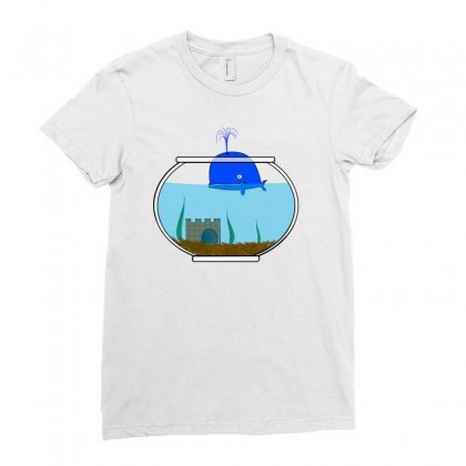 Wal Fish Small World Lake Sea Ladies Fitted T-shirt Designed By Salmanaz