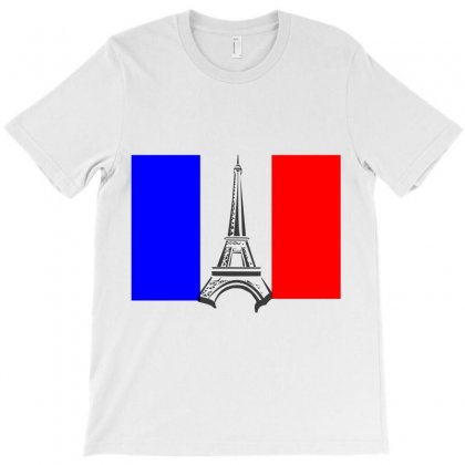Eiffel Tower France Flag Tower T-shirt Designed By Salmanaz