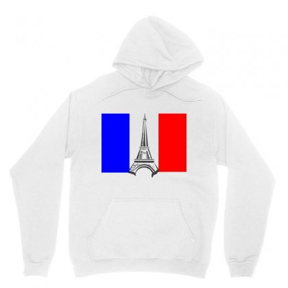 Eiffel Tower France Flag Tower Unisex Hoodie Designed By Salmanaz