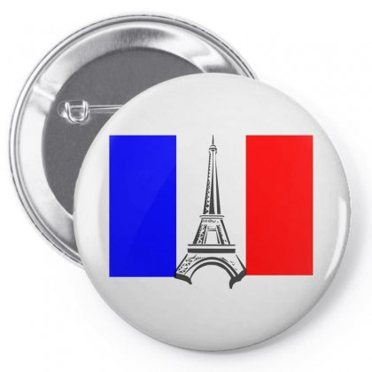 Eiffel Tower France Flag Tower Pin-back Button Designed By Salmanaz