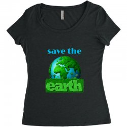 Save the earth Women's Triblend Scoop T-shirt | Artistshot