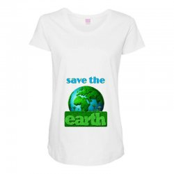 Save the earth Maternity Scoop Neck T-shirt | Artistshot