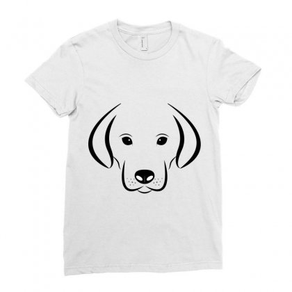 Dog Head White Background Labrador Ladies Fitted T-shirt Designed By Salmanaz