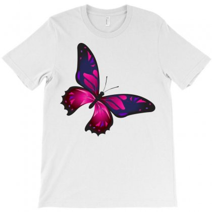 Butterfly Colorful Pink Blue T-shirt Designed By Salmanaz