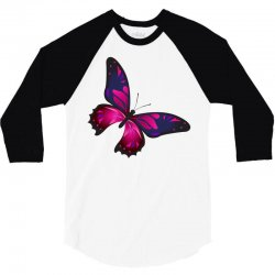 butterfly colorful pink blue 3/4 Sleeve Shirt | Artistshot