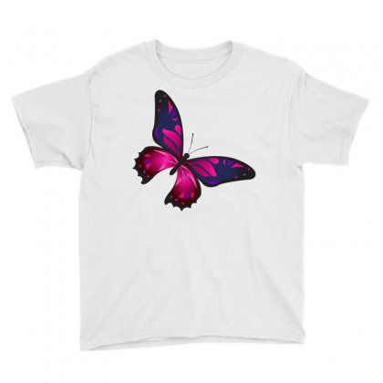 Butterfly Colorful Pink Blue Youth Tee Designed By Salmanaz