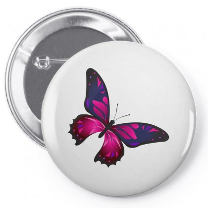 Butterfly Colorful Pink Blue Pin-back Button Designed By Salmanaz