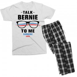 talk bernie to me 2020 Men's T-shirt Pajama Set | Artistshot