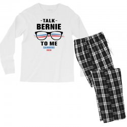 talk bernie to me 2020 Men's Long Sleeve Pajama Set | Artistshot