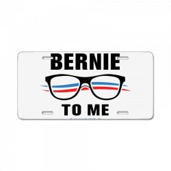 talk bernie to me 2020 License Plate | Artistshot
