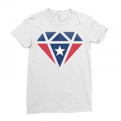 new england patriots retro diamond Ladies Fitted T-Shirt | Artistshot