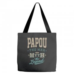 Papou The Myth The Legend Tote Bags | Artistshot