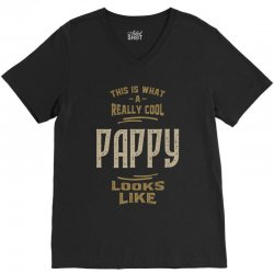 Really Cool Pappy V-Neck Tee   Artistshot