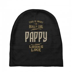 Really Cool Pappy Baby Beanies   Artistshot