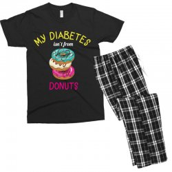 my diabetes isn't from donuts Men's T-shirt Pajama Set | Artistshot