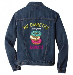 my diabetes isn't from donuts Men Denim Jacket | Artistshot