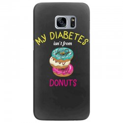 my diabetes isn't from donuts Samsung Galaxy S7 Edge Case | Artistshot