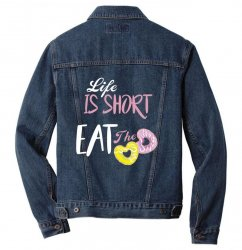 life is short eat the donut Men Denim Jacket | Artistshot