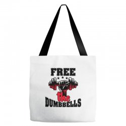 free the dumbbells cool Tote Bags | Artistshot