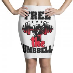 free the dumbbells cool Pencil Skirts | Artistshot