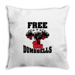free the dumbbells cool Throw Pillow | Artistshot