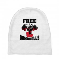 free the dumbbells cool Baby Beanies | Artistshot