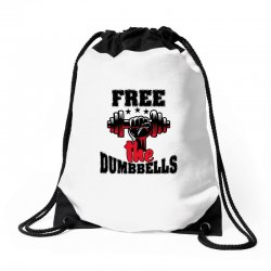 free the dumbbells cool Drawstring Bags | Artistshot