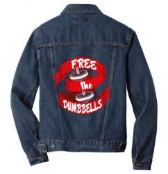 free the dumbbells Men Denim Jacket | Artistshot