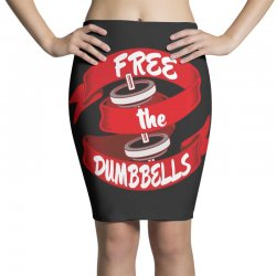 free the dumbbells Pencil Skirts | Artistshot
