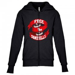 free the dumbbells Youth Zipper Hoodie | Artistshot