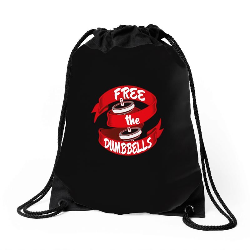 Free The Dumbbells Drawstring Bags | Artistshot