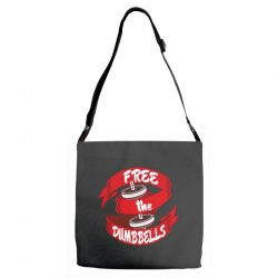free the dumbbells Adjustable Strap Totes | Artistshot