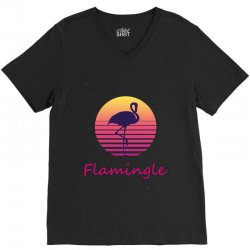 flamingle V-Neck Tee | Artistshot