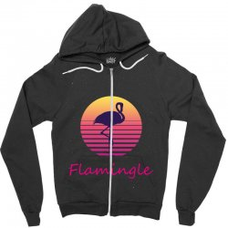 flamingle Zipper Hoodie | Artistshot